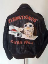 VTG Schott A-2 'Flying Tiger' Leather Flying Jacket Aviator Coat Size XL